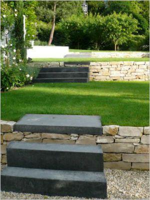jardin en terrasse Lac Leman par christian Preaud