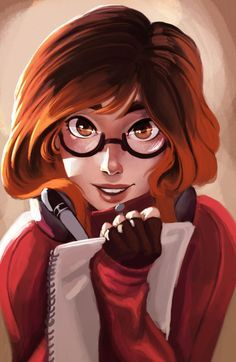 "Student Girl #glasses / Studentessa #occhiali - Art by Carlos Eduardo (Raichiyo33 on deviantART, ""Andie"")"