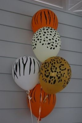 animal themed party ideas that could be used for jungle themes....