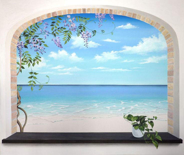 17 best images about murales on pinterest beach wall for Beach mural painting