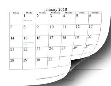 2018 Calendar (12 pages) Calendar