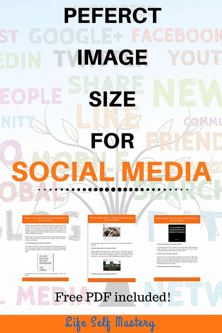 There are different image sizes for each social media platform. That's why we made it simple for you and made a guide for image size of each social media image.