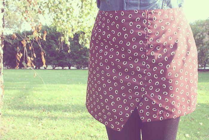 Falda asimétrica handmade para un outfit de otoño