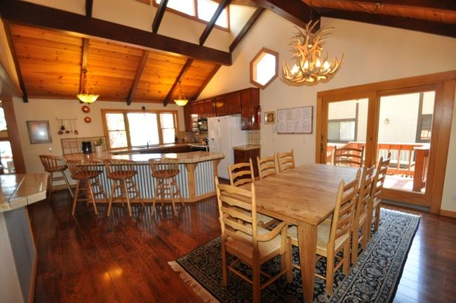 Dining Table Style Log Cabin Interior Decor Pinterest