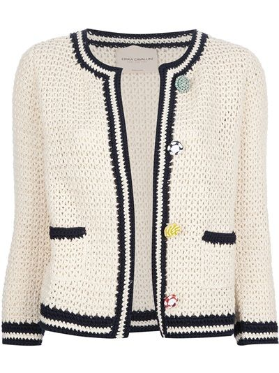 ERIKA CAVALLINI SEMI COUTURE Crochet Cardigan did U say CHANEL?
