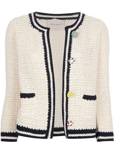 ERIKA CAVALLINI SEMI COUTURE Crochet Cardigan