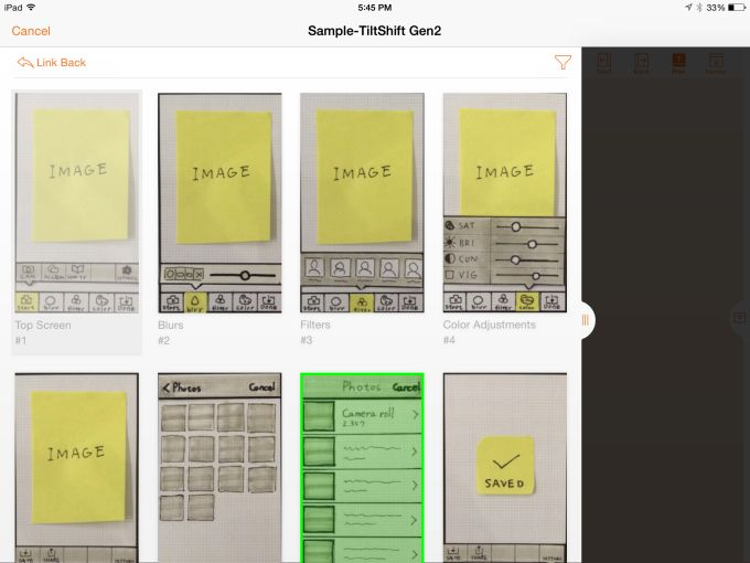 POP, an app that lets developers quickly turn paper sketches into prototypes for mobile apps