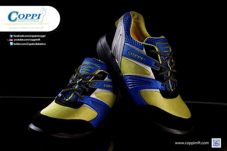 Zapatos para Diabéticos -Doyle Verde x Azul x Negro