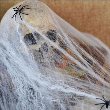 Only US$1.99 , shop Noctilucent Spider Web With 2 Spiders Halloween Home Party Haunted House Decor at Banggood.com. Buy fashion Halloween Supplies online.