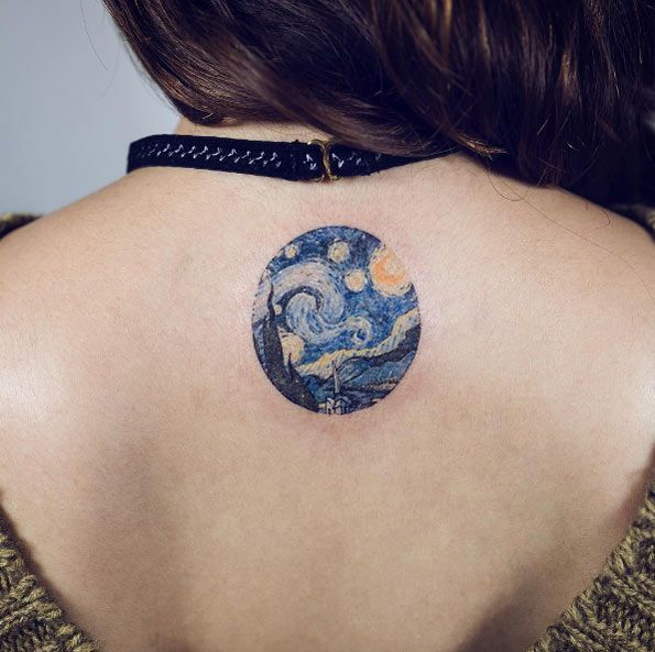 Van Gogh Starry Night tattoo by Sol Art