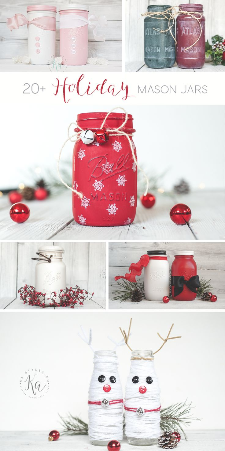 Holiday mason jar decor inspiration.