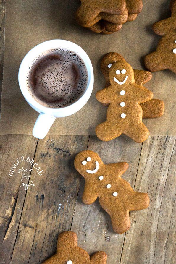 Gluten Free Crispy Gingerbread Men Cookies