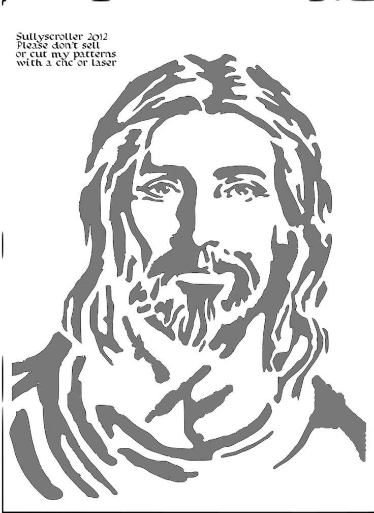 Jesus Bitmap copy - Religious - User Gallery - Scroll Saw Village