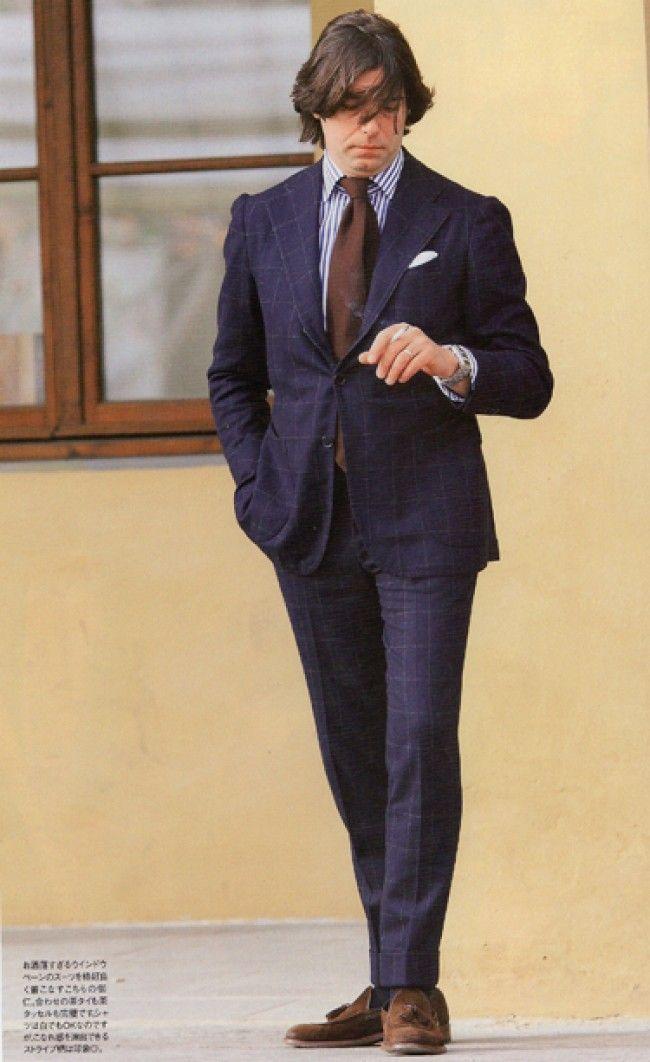 valentino ricci men style italian smoking windowpane