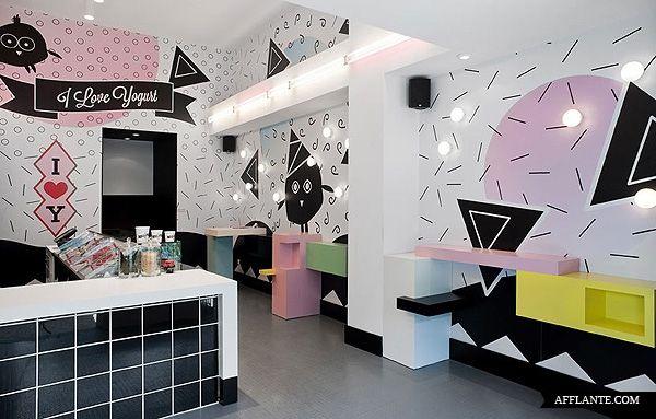 I Love Yogurt Store in Athens // Stage Design Office | Afflante.com