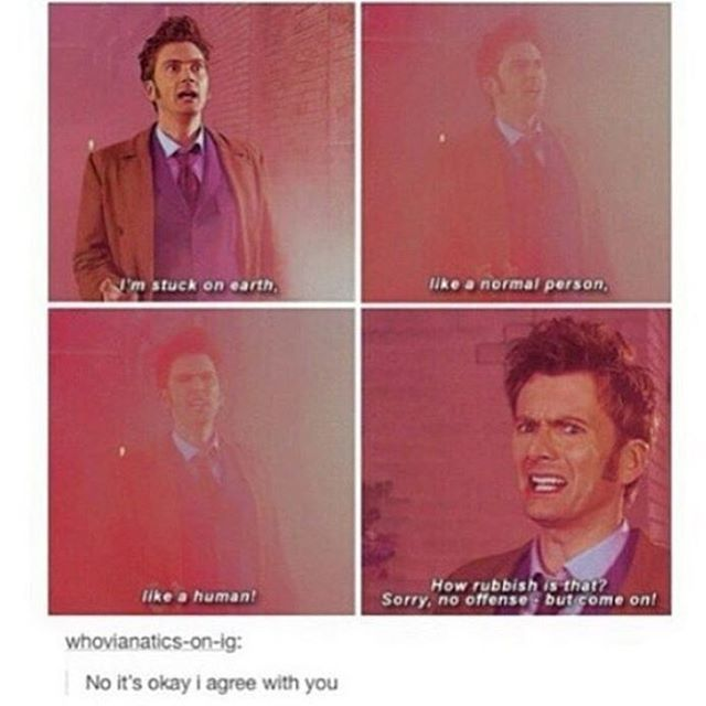 Yes Doctor we would all very much like to see the universe with you in the TARDIS rather than continue our less than adventurous lives here on earth.