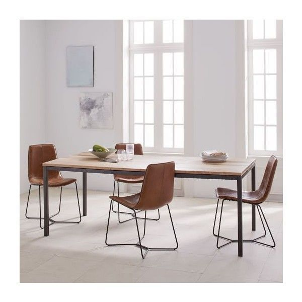 West Elm Modern Dining Table Small 39 55 699 Liked On