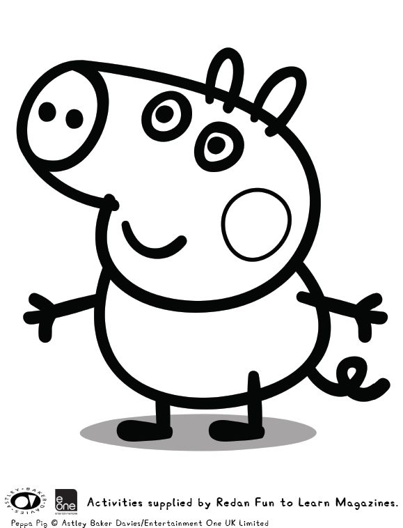 peppa pig coloring pages abcs - photo#13