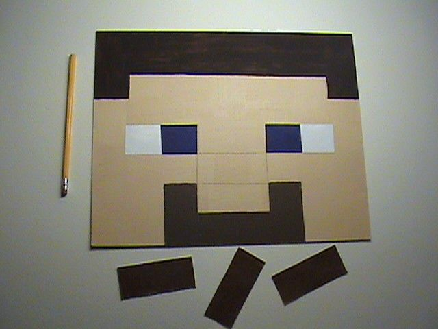 Minecraft Birthday Party cardboard game Pin the Nose Steve  Free Game