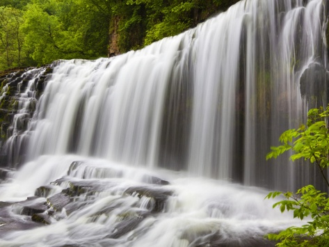 Sgwd Isaf Clun Waterfall, Brecon Beacons, Wales, United Kingdom, Europe