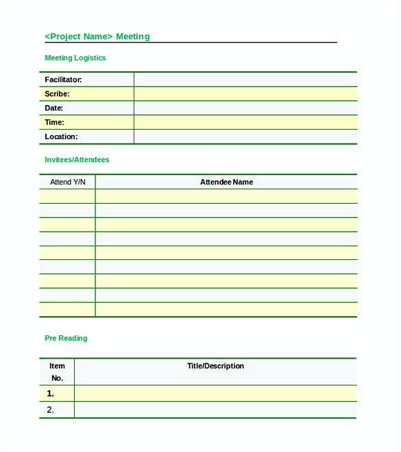 20 Free Download Meeting Agenda Templates For An Effective