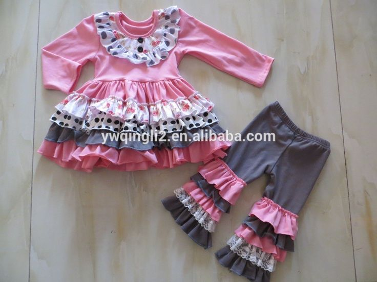 Check out this product on Alibaba.com App:DYJ-206 Fast shipping 2016 fall boutique girls outfits Wholesale children's boutique clothing Pink polk dot ruffle clothes https://m.alibaba.com/3If2me