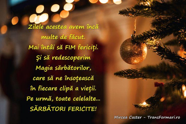 17 urări, pentru tine! | Vezi pe blog. Transformari cu Mircea Caster - http://www.transformari.ro/sarbatori-fericite/