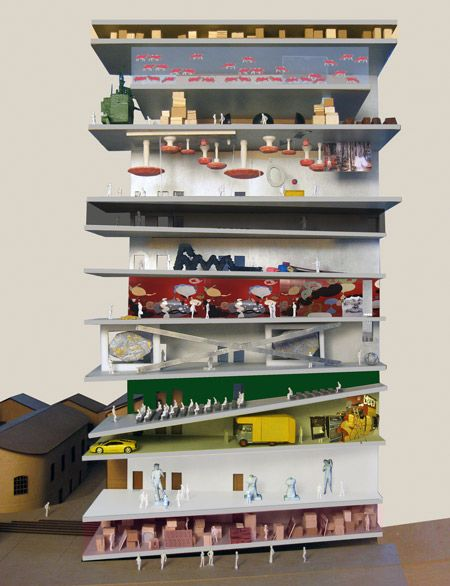 AMO Fondazione Prada: Awesome sectional model. A concept design, but imagine being there.