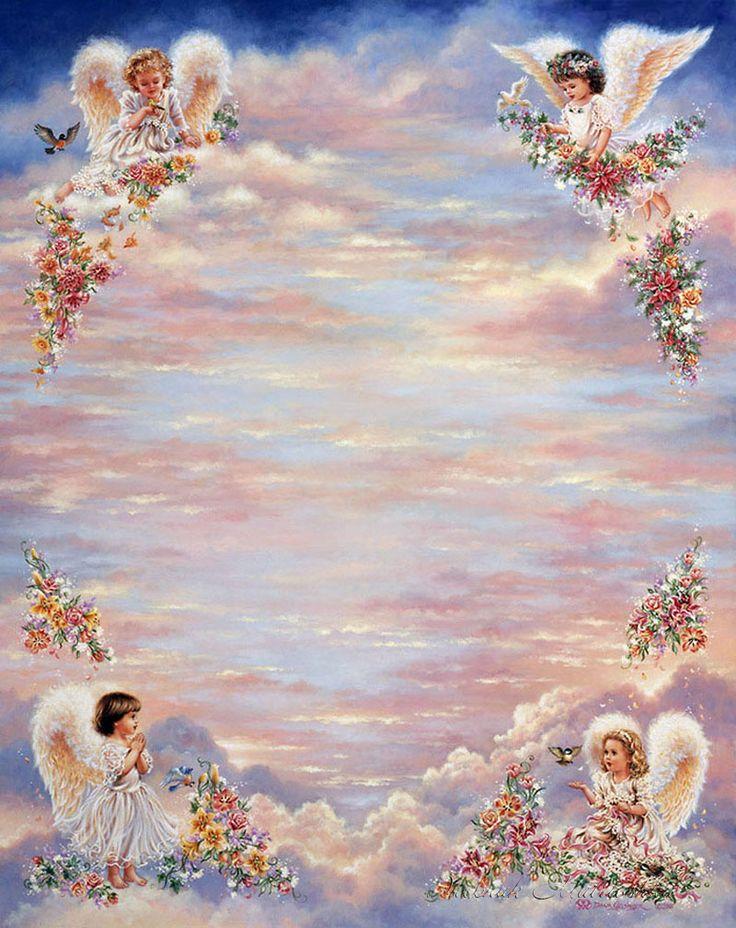 Осьминог позитивные, открытка с неба ангелы