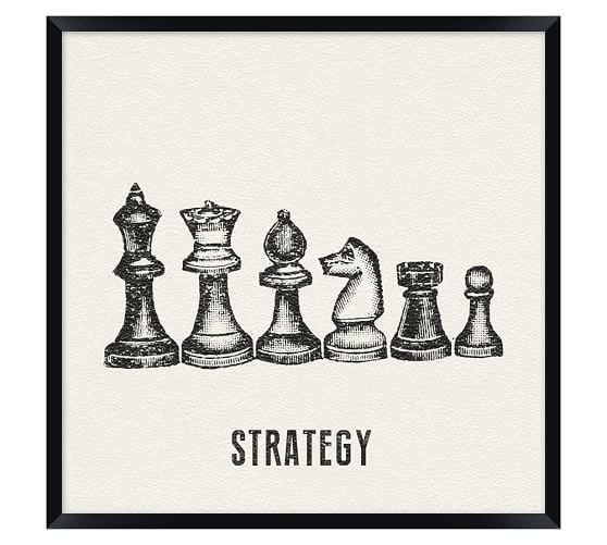 Vintage Office Icons Framed Print   Strategy