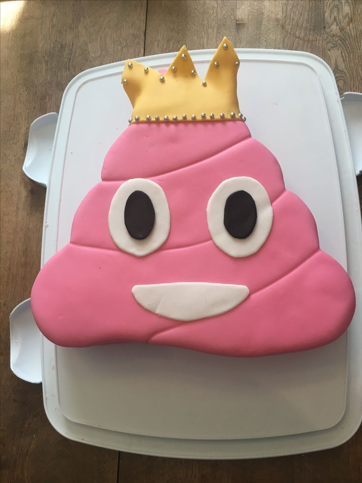 Pink poop emoji cake