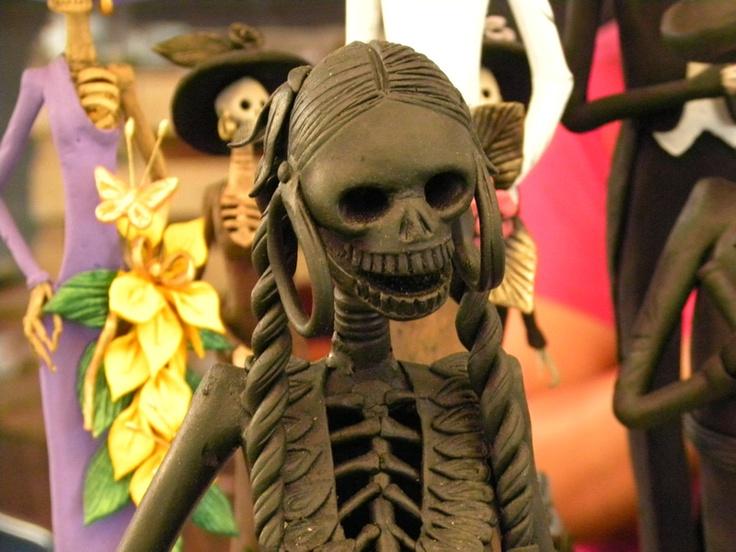 Calaberita de barro, feria artesanía Uruapan Mich.