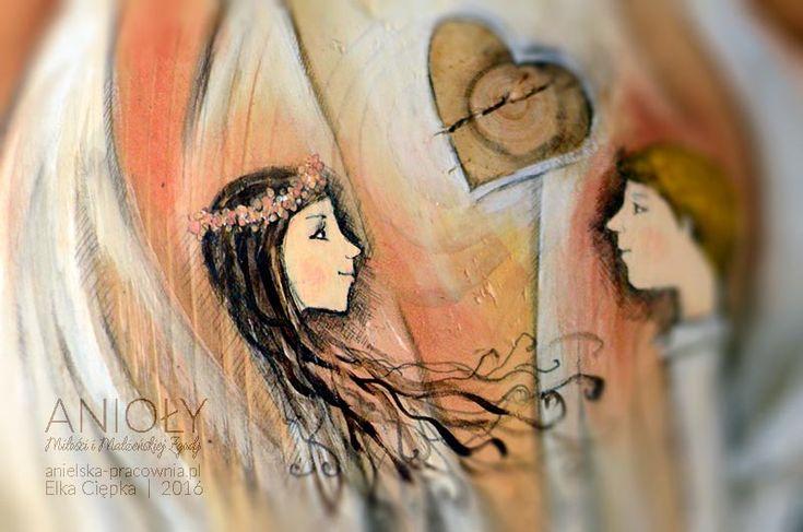 """""""Anioły Miłości i Małżeńskiej Zgody"""" – prezent na ślub dla nowożeńców. *** Życzysz komuś miłości w małżeństwie i wiecznej zgody w związku? Życzysz nowożeńcom jak najlepiej? Chciałbyś, aby do skłóconego domu wróciła zgoda i harmonia? Chciałbyś, aby w szczególny sposób uczcić czyjąś lub swoją rocznicę ślubu?  --- Podaruj """"Anioły Miłości i Małżeńskiej Zgody"""" :)"""