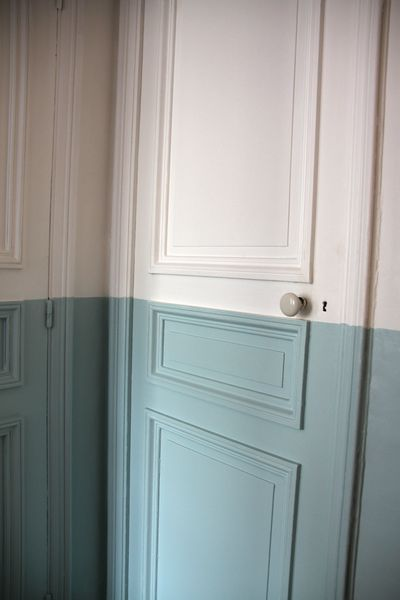 bleu gris et craiePainting Samples, The Doors, Guest Bedrooms, Blue, Painting Doors, Master Baths, Painting Ideas, Painting Colors, Aqua Doors