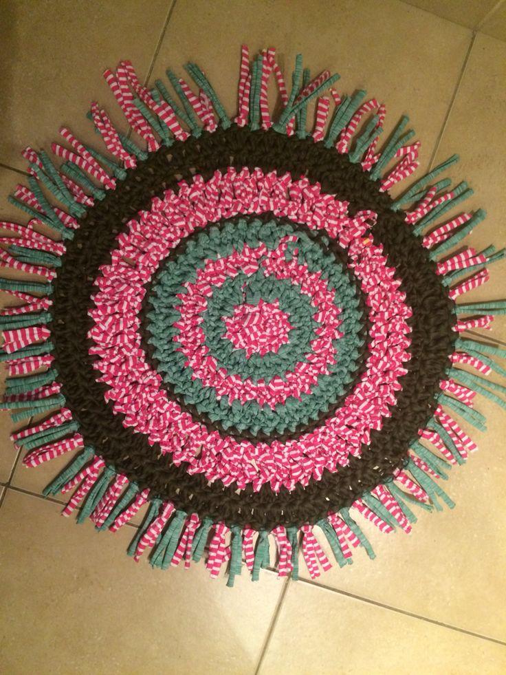 Alfombra para habitación de una niña Totora - Crochet