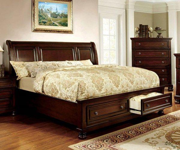 Furniture Of America Northville Queen Storage Bed Bed Frame Sets Furniture Solid Wood Platform Bed