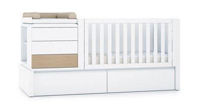 Cunas convertibles en cama infantil de diseño para bebés