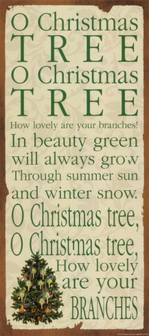Words To O Christmas Tree