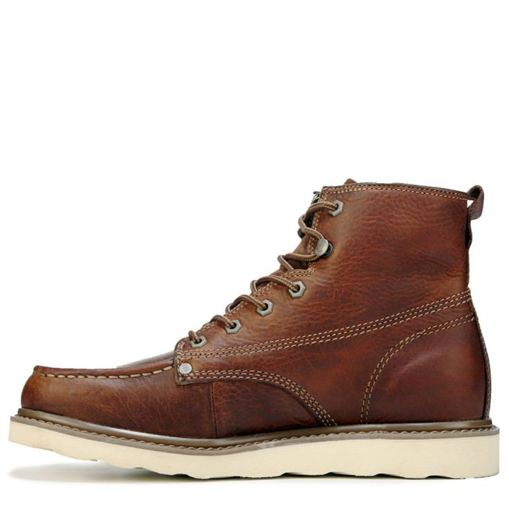 Caterpillar Men's Glenrock Mid Top Moc Toe Lace Up Boots (Peanut Leather)