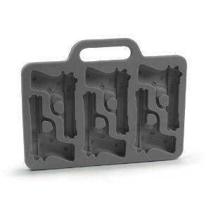 @Jessica Mlinaric this made me think of you! get your gat ready! Handgun-Shaped Ice-Cube Tray