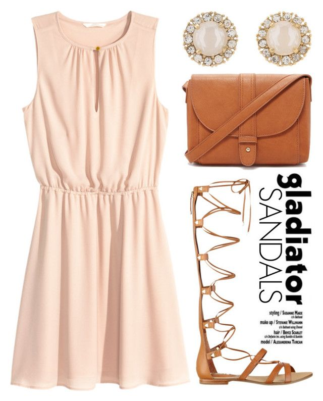 """Long Gladiator Sandals 1495"" by boxthoughts ❤ liked on Polyvore featuring H&M, Forever 21, GUESS and Kate Spade"