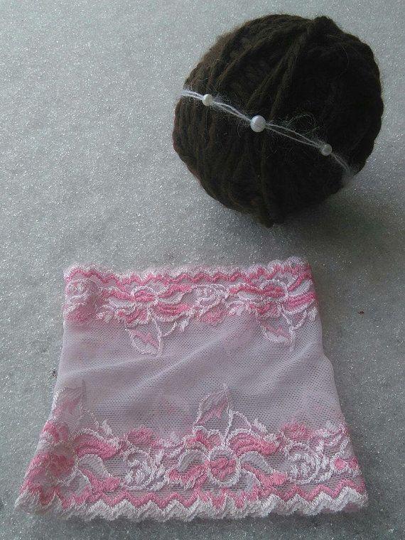Newborn+Girl+Stretch+Lace+Skirt+and+Pearl+by+GeminiiRushDesigns