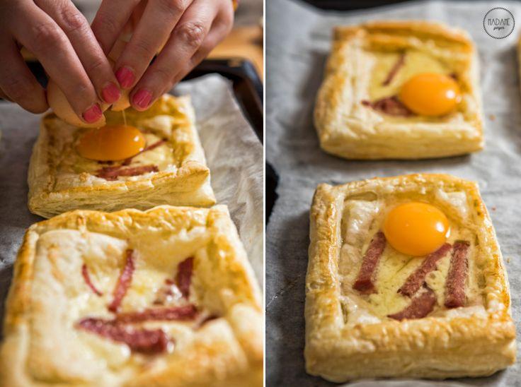 Τάρτες με Σαλάμι, τυρί  Αυγό!