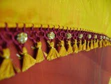 Traditional tassels highlighted with stones
