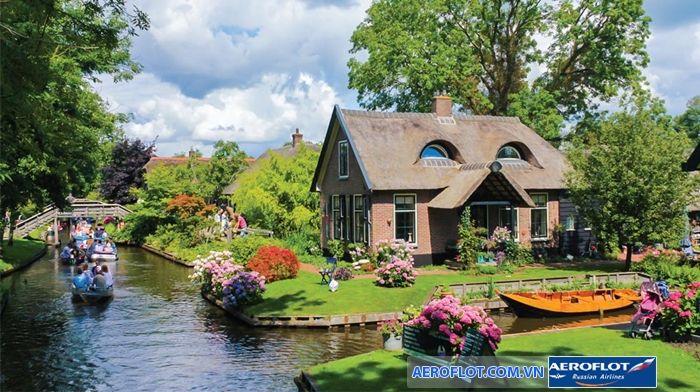 Ghé thăm ngôi làng Venice của Hà Lan - Đại lý Aeroflot Việt nam