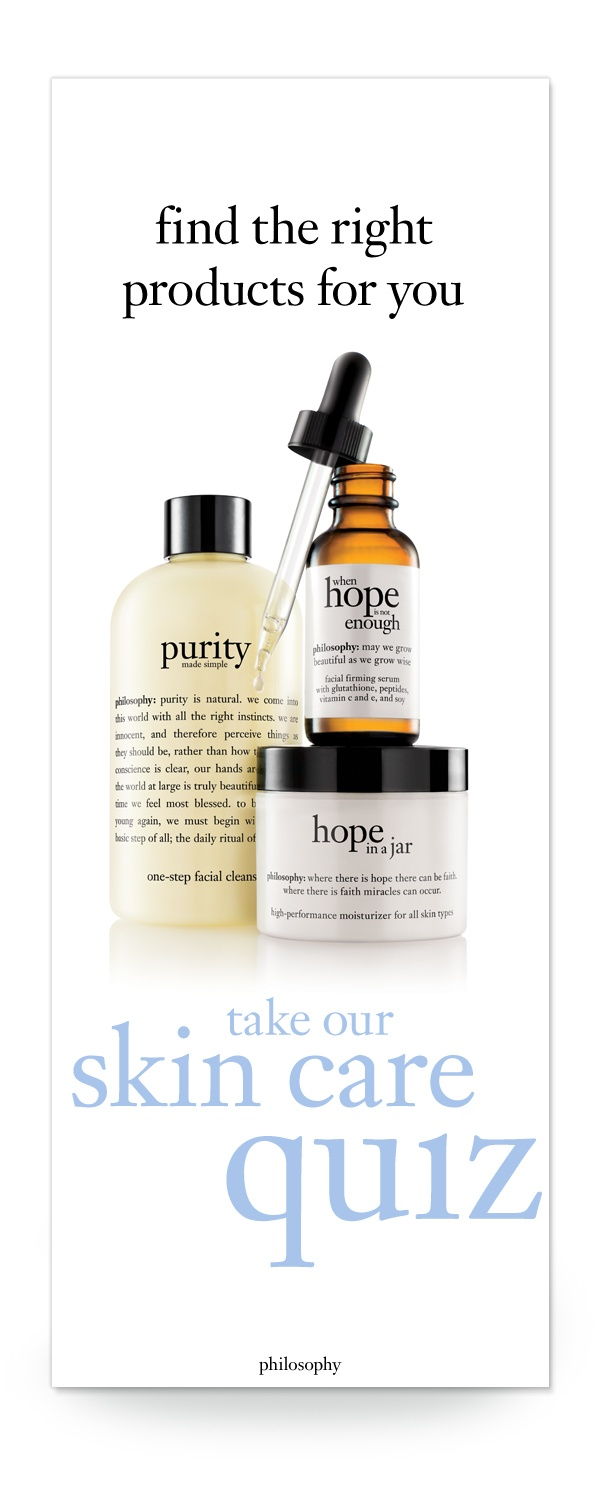 build a custom skincare routine at www.philosophy.com