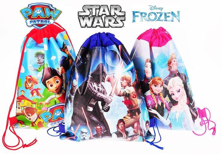Worek na buty dla dzieci Frozen,Psi Patrol,Star Wars w sklepie internetowym kochamzabawki.eu. Worki nadają się na strój na WF oraz jako worki szkolne na buty.