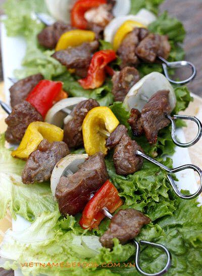 vietnamese recipies | Vietnamese Recipes: Grilled Beef BBQ Recipe (Thịt Bò Xiên Nướng ...