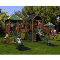 Plum®  Wildebeest Playground Wooden Climbing Frame
