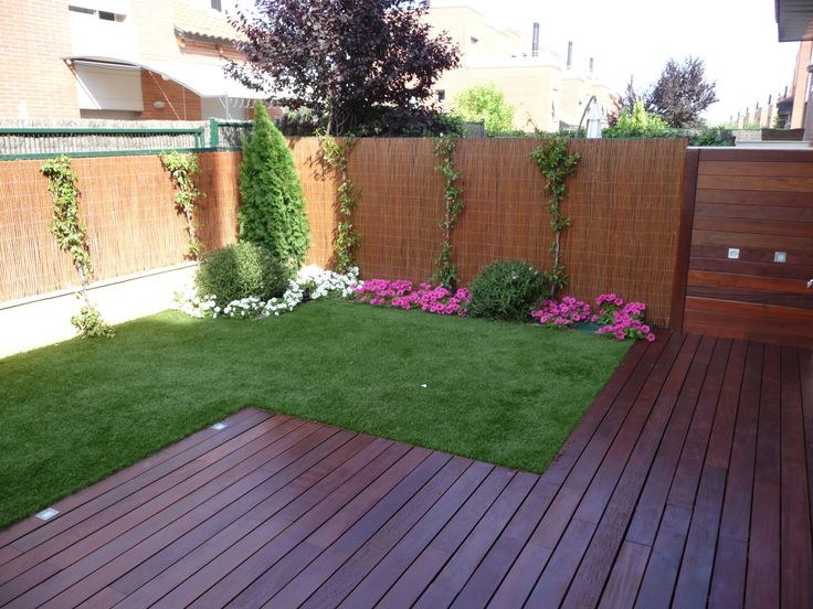133 best images about jardines on pinterest - Terraza con cesped artificial ...